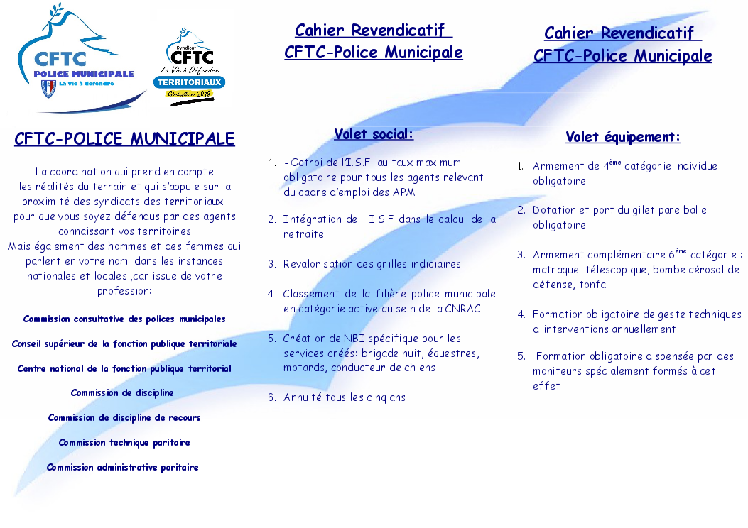 Syndicat cftc police municipale brochure cftc - Grilles indiciaires police municipale ...